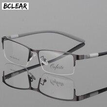 BCLEAR, очки, титановая оправа, мужские очки, компьютерные, оптические, по рецепту, для чтения, прозрачные линзы для глаз, мужские очки, lunette