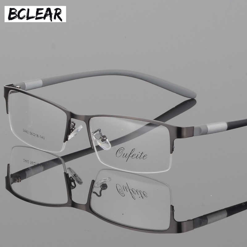 BCLEAR Eyewear Titanium Glasses Frame Men Eyeglasses Computer Optical Prescription Reading Clear Eye Lens male Spectacle lunette