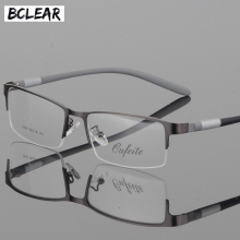9b336a9e8 BCLEAR نظارات التيتانيوم نظارات إطار الرجال النظارات الكمبيوتر البصرية وصفة طبية  القراءة واضح العين عدسة الذكور مشهد نظارة