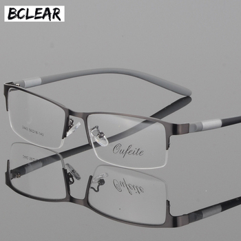 BCLEAR Eyewear Titanium Glasses Frame Men Eyeglasses Computer Optical Prescription Reading Clear Eye Lens male Spectacle lunette soonhua wired stereo gaming headset noise cancelling over ear headphone gaming earphones with mic led light for laptop computer