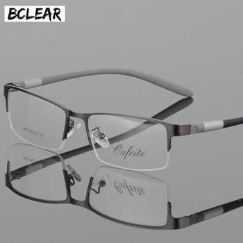 BCLEAR Eyewear Titanium Glasses Frame Men Eyeglasses Computer Optical Prescription Reading Clear Eye Lens male Spectacle lunette - DISCOUNT ITEM  52 OFF Apparel Accessories