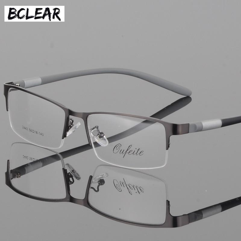Bclear óculos de titânio quadro óculos homem computador prescrição óptica leitura clara lente olho masculino óculos lunette