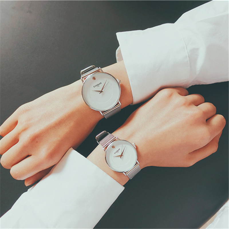New Fashion Couple Simple Style Watches for Men Women Watches Casual Stainless Steel Mesh Band Quartz Watch For lovers horloges o t sea simple brand quartz watches women men fashion casual lovers quartz watch minimalism hand clock for couple reloj montres page 3 page href page 5