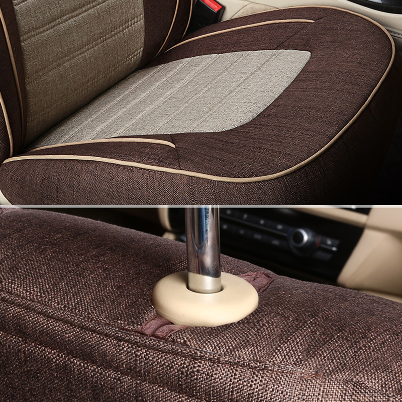 AutoDecorun Linen Fabric Covers Seat for Peugeot 308 SW Car Accessories Seat Covers Sets for Cars Cushions Seats Back Supports