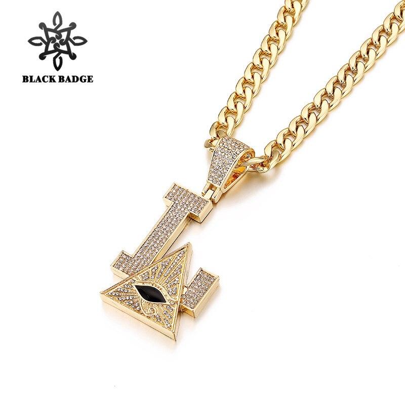 Hip Hop Jewelry Eye of Providence Pendant Wirh Chain