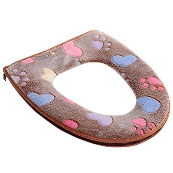 Практичный Стульчики Детские Ванная комната Теплее стульчак ткань мягкая Closestool моющиеся Крышка верхняя крышка Pad (кофе)