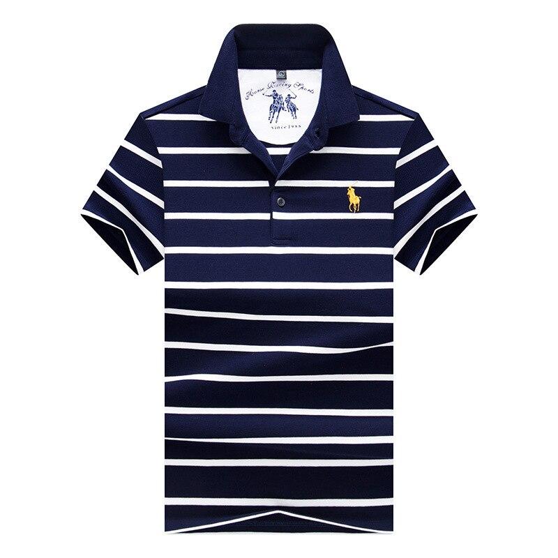 2018 Hommes   Polo   Chemise 3D broderie de Haute Qualite Tops Hommes   Polo   chemises Daffaires hommes marques Bande mpression   polos