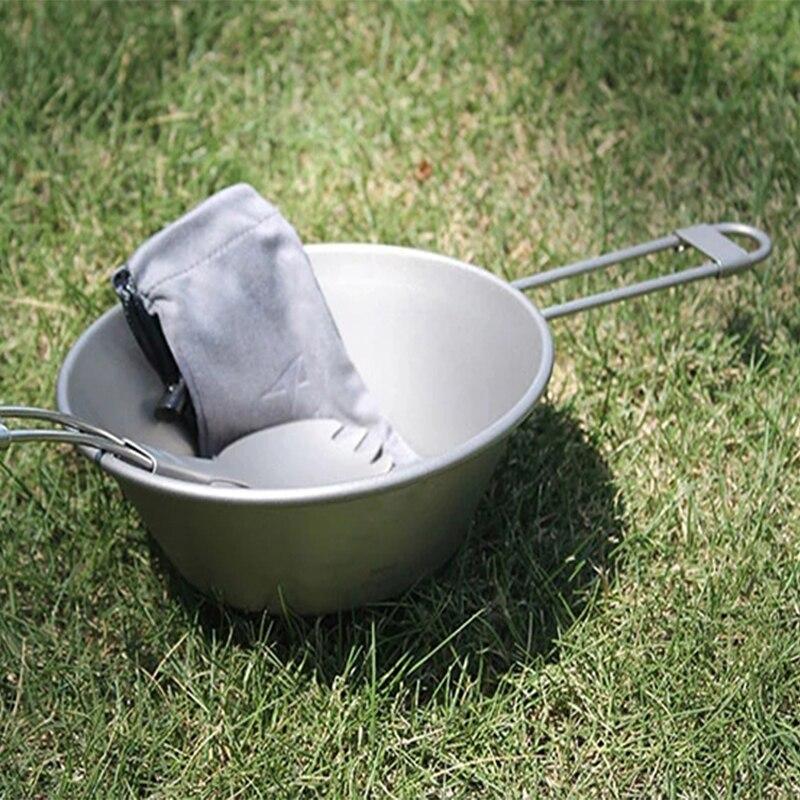 Keith titanio ultraligero de pared sola taza con mango plegable y tapa para Camping senderismo mochila de viaje Picnic