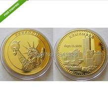 Free shipping 50pcs/lot,CHALLENGE COIN MILITARY REMEMBER 911 UNITED WE STAND TWIN TOWERS FREE CAPSULE