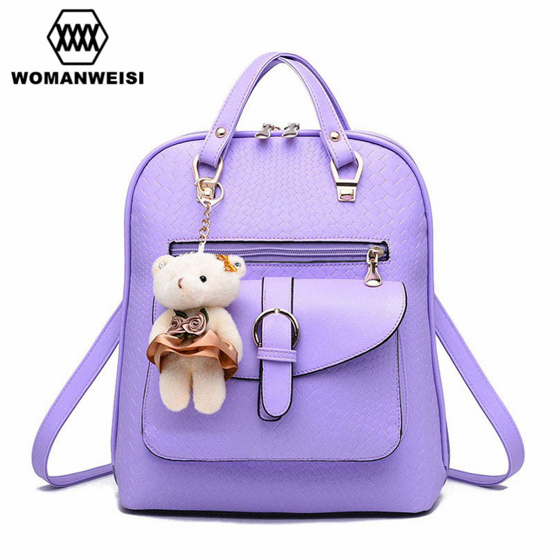 Backpack Women Fashion 2017 Brand New High Quality Leather Backpacks For Teenage Girls L ...