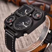 Black Limited Edition Watch With Compass And Thermometer