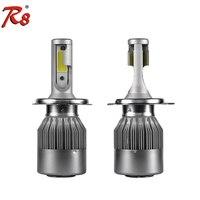 R8 Factory Drop Ship Popular C6 Car LED Headlight Bulb H4 Hi Lo 36W 3800LM COB