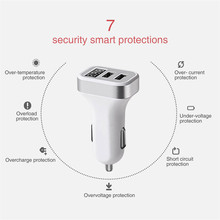 Malloom 2018 New Products Quickly Charger  Dual USB 4.8A Car Charger Fast Adaptive Charging For iPhone For Samsung Galaxy#30