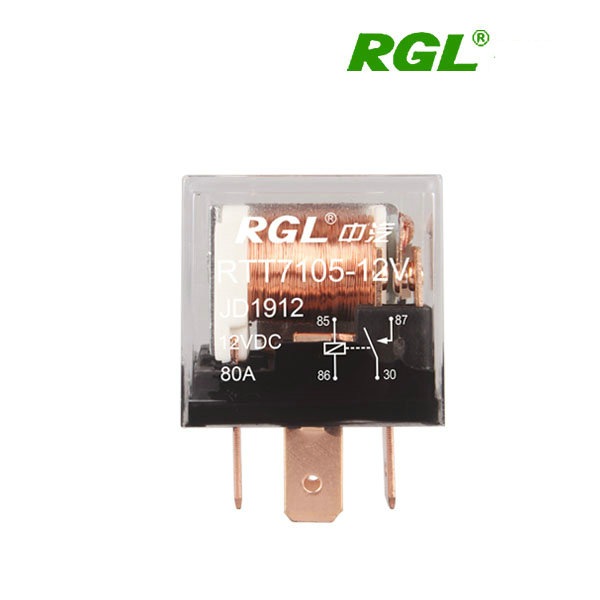 RGL 12V/24V RTT7105 80A miniature electromagnetic relay single contact transparent shell Automotive / DIY electrical accessories