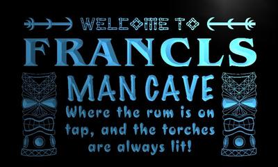 x0126-tm Francis Man Cave Tiki Bar Custom Personalized Name Neon Sign Wholesale Dropshipping On/Off Switch 7 Colors DHL