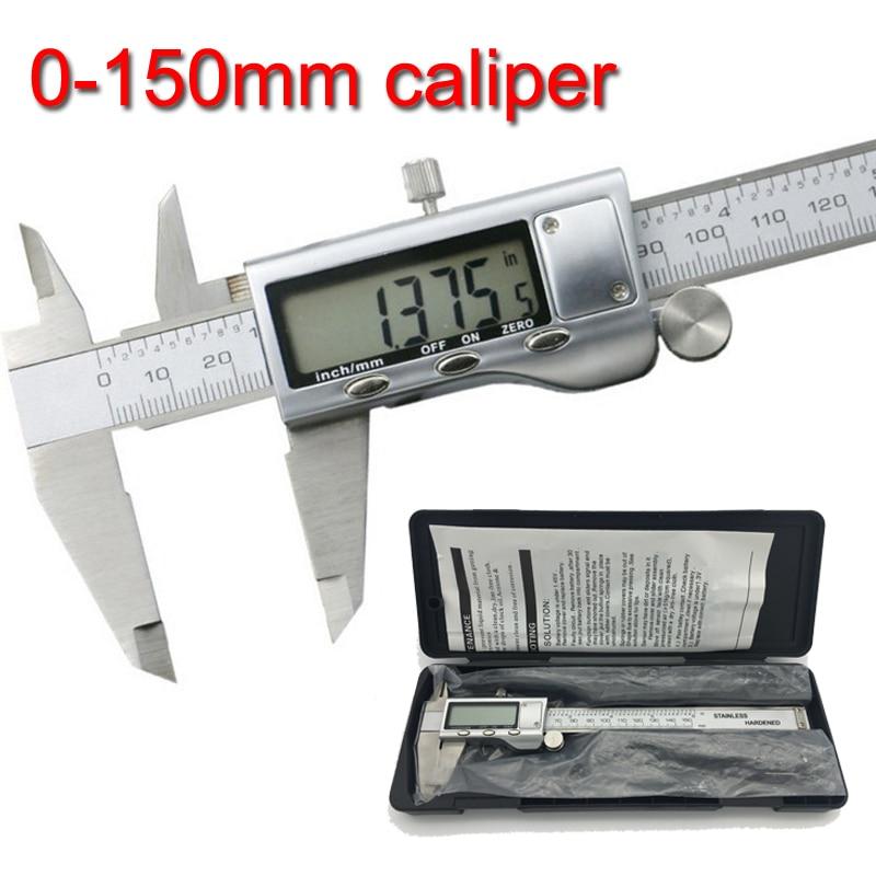 Metal pinza 6 pulgadas 150mm Acero inoxidable Digital electrónico Vernier calibre micrómetro herramienta de medición calibradores