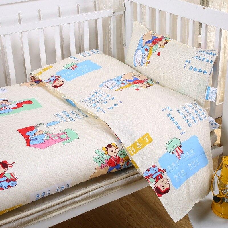 3pcs/set Nursery Bedding Set Girls Boy Pillow Case Bed Sheet Duvet Cover Cartoon Baby Crib Bedding Set Suit Crib within 135*60cm fire and water guitar bedding duvet cover set digital print 3pcs