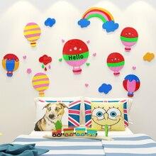 2018 new Cartoon 3D stereoscopic acrylic wall sticker decorating childrens room bedroom kindergarten background