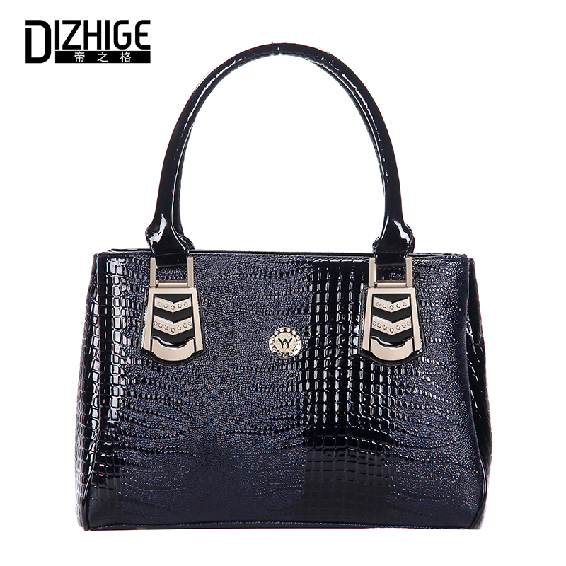 DIZHIGE Women Handbags High Quality Leather Tote Bags Designer Top Handle Bag Ladies Hand Bags Female Handbag Women Famous Brand splendid 2016 new designer famous brand women leather handbags bags high quality women s messenger bags bolsas pouch bag tote