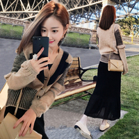 female two piece suit autumn girl retro taste disco dancing spirit women's wear skirt suit fashion sweater