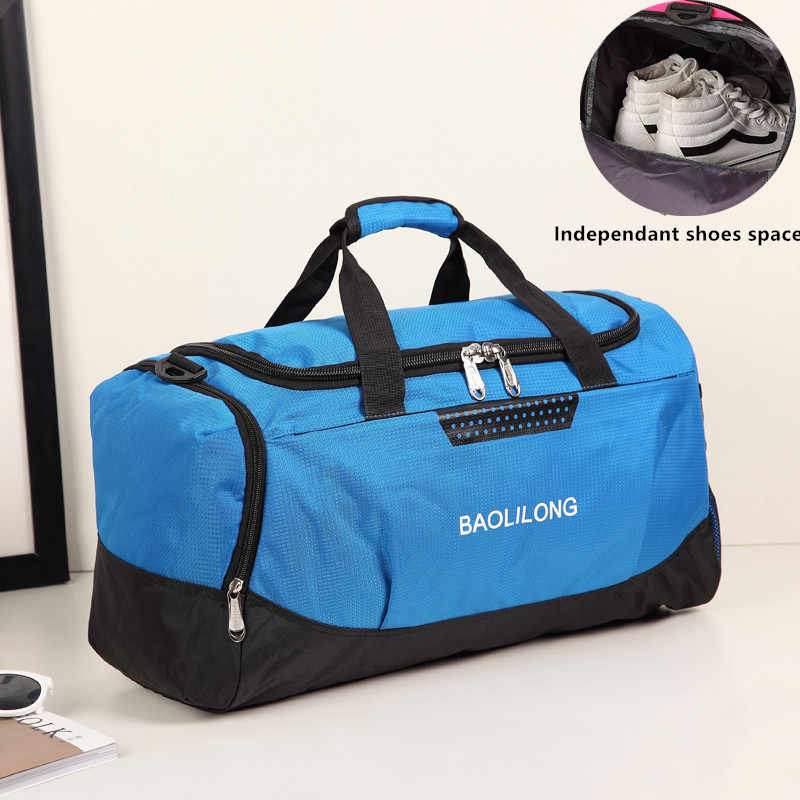 5080735fb95d Professional Large Sports Bag Waterproof Gym Bag Polyester Men Women Fitness  Training Duffle Sports Bag