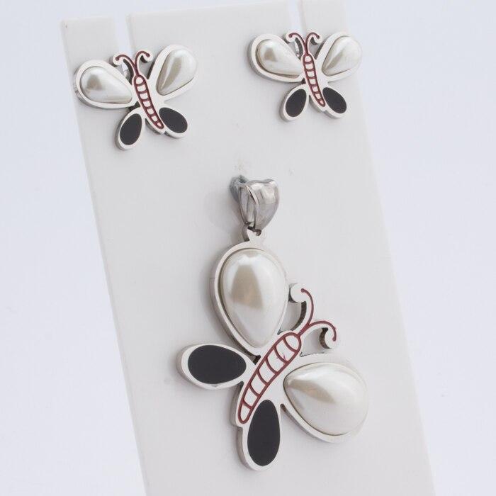 TL Tier Fuß Schwimmdock Medaillon Glas Anhänger Halskette & Ohrringe Schmuck-Set Wishing Flasche Für Frauen Mutter der Liebe Baby geschenke