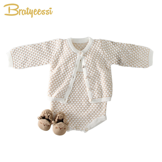 063ee8dae514 New Knitted Baby Girl Romper Cotton Knit Infant Jumpsuit Baby Rompers  Princess Baby Onesie Toddler Newborn
