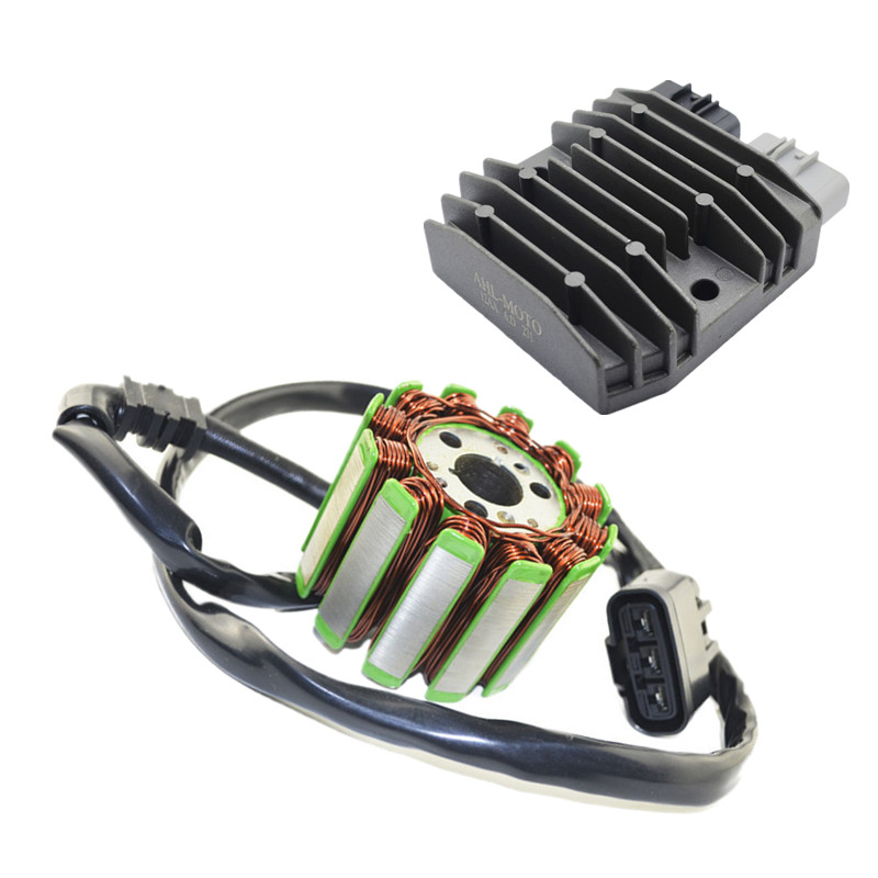 Motorcycle Generator Parts Stator Coil Comp + Voltage Regulator Rectifier For YAMAHA YZF1000 YZFR1 YZF 1000 R1 2004-2008 new stator coil for yamaha yfm550 yfm700 grizzly 2009 2014 10 11 12 13 generator