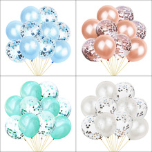 1 set 12 inch Latex Colorful Balloons Confetti Air Helium For Wedding Birthday Baby Shower Party Supplies