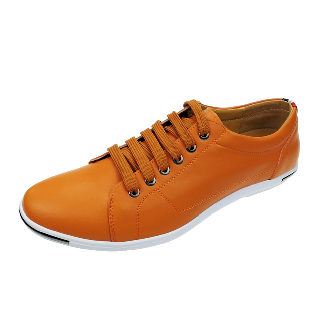 2017 New Arrival Stylish Man Shoes Round Toe Lace Up Student Casual Flats Shoes For Man Comfort Breathable Driving Shoes White