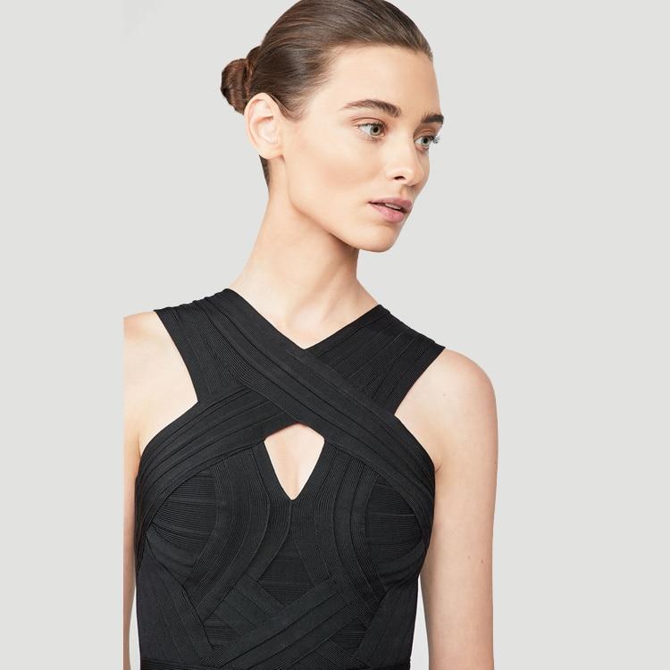 2019 Femmes Célébrité Cou Robes V Livraison Partie Moulante Noir Élégant Soirée Directe Bandage Sleevelessr De Nouveauté 1wEdqWxR