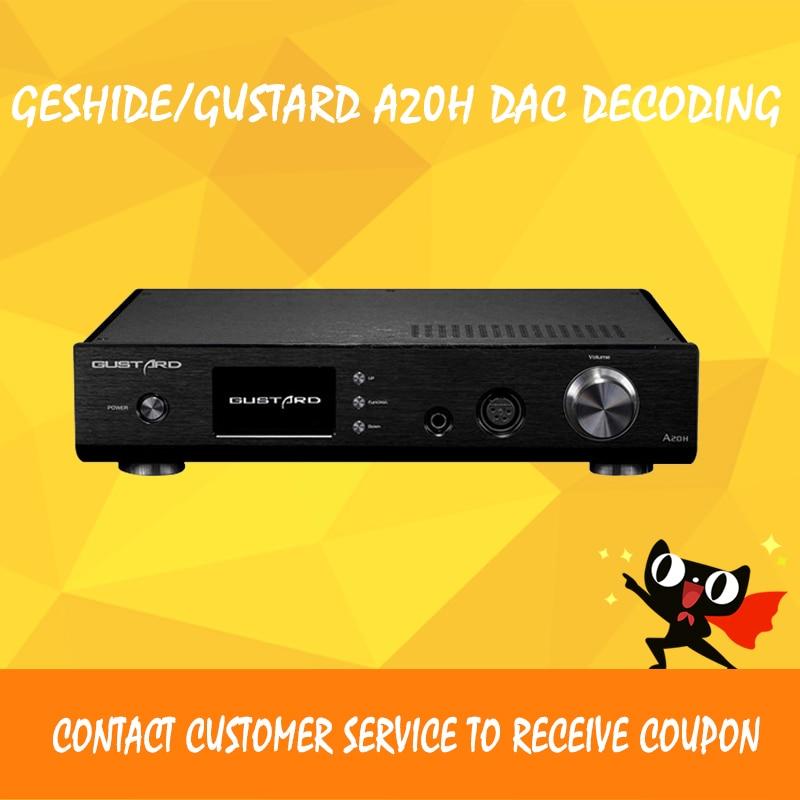Geshide/GUSTARD A20H audio amplifier usb dac audio player ak4497 usb decoding xmos class a amplifier balance headphone amp gustard a20h dual ak4497 xmos usb pcm dsd dop dac decoder and class a full balanced amplifier