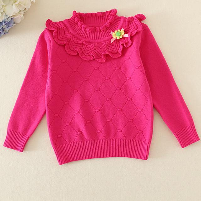 Niños del Nuevo Algodón de La Muchacha Del Suéter de los Bebés Tops Camisas de Punto Suéter AS-1634 Autmn Invierno Suéteres de La Muchacha Para Niños Ropa