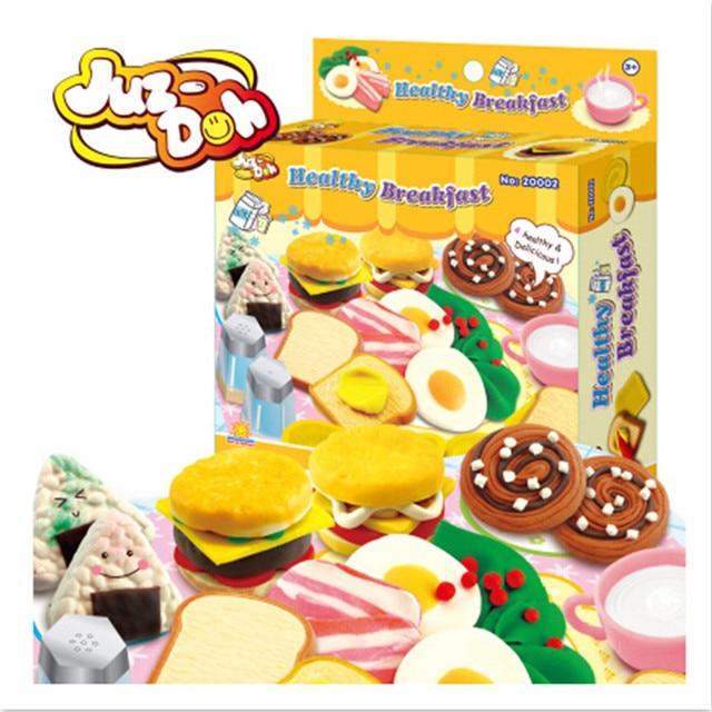Cute Healthy Breakfast  Plasticine Play Doh Educational Toys Brinquedos,Creative DIY Playdough Toys for Kid's Gift