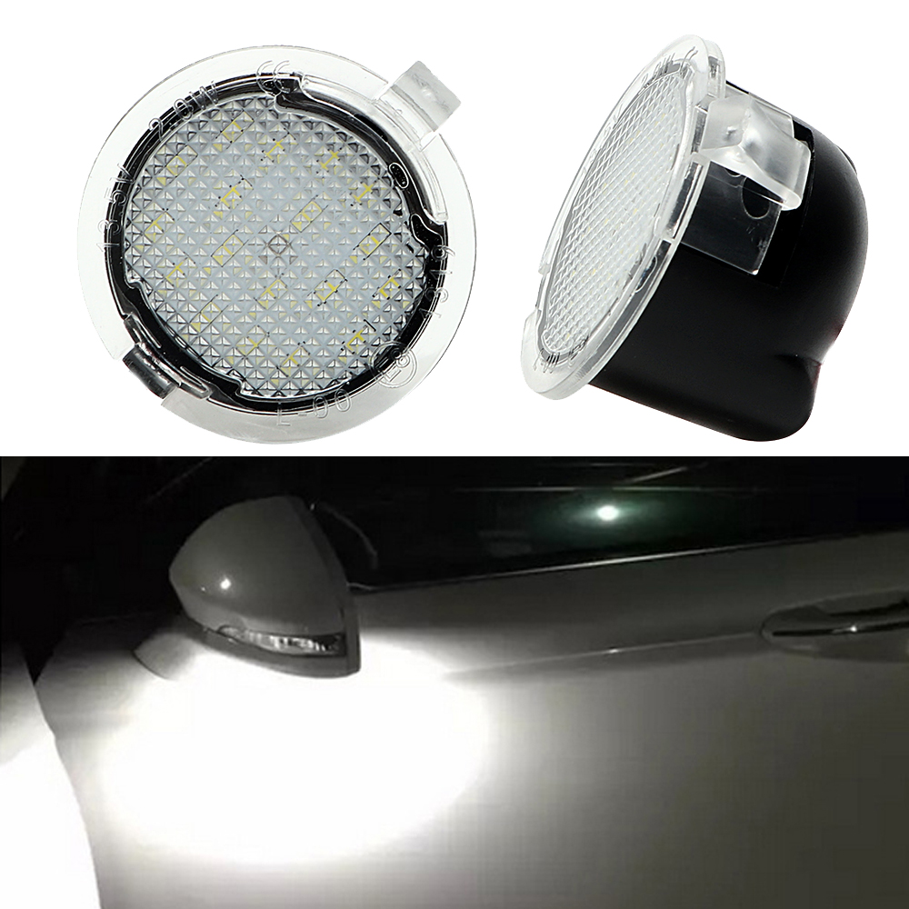 iTimo 2Pcs Auto LED Under Side Mirror Light for Ford Edge Mondeo Explorer F150 Car-styling Puddle Lamp Car Rearview Mirror Lamp