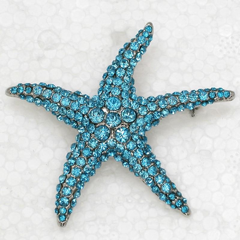 12pcs lot Wholesale Fashion Brooch Crystal Rhinestone Star Pin brooches Jewelry gift C102134