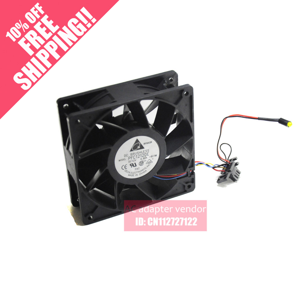 Delta PFC1212DE 12038 12V 4.8A super car booster fan violence delta new ffr1212dhe 12038 12cm super fan 12v 6 3a car booster fan violence 120 120 38mm