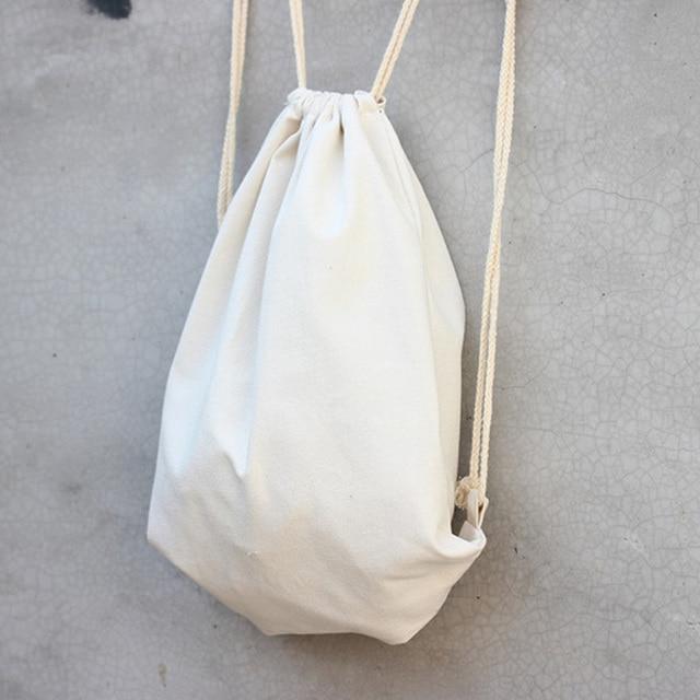 258b8a4bf New arrival plain white canvas woman bag Travel Rucksack Shoulder bag women  bakcpack mochilas escolares adolescentes