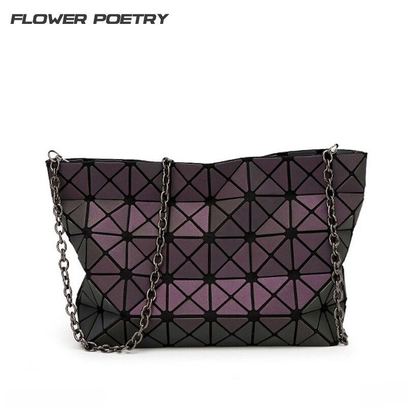 Famous Brands Women BaoBao Bags Chain Luminous Crossbody Shoulder Bag Geometric Quilted Luxury Bao Bao Handbag Lattice Bolsas цена 2017