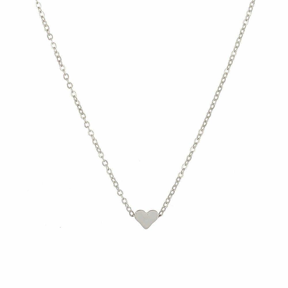 2018 Hot Crystal Heart Necklace For Women Romantic Fashion Classic Rhinestones ladies girl choker collar ribbon gold Silve @3