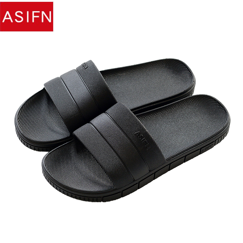 ASIFN Men's Slippers Bathroom Men Shoes Slipper Non-slip Women Loves Indoor Home Summer Flip Flops Soft Male Slides
