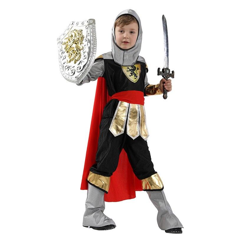 Warrior Costume Kids Medieval Viking Halloween Fancy Dress
