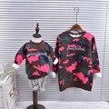 Invierno de la Familia mirada de Navidad sudaderas con capucha de cachemira suéter camuflaje rosa a juego padre madre hija hijo ropa trajes