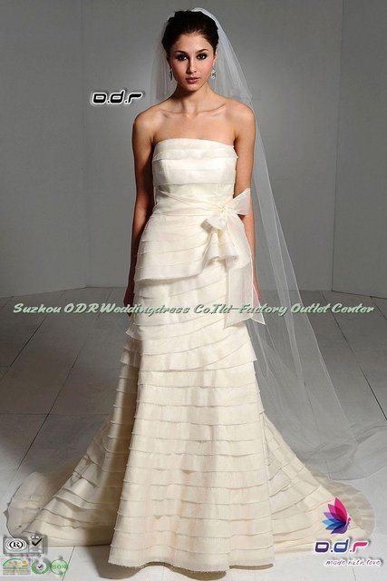 2012A+++New Design!!Modern Fit and flare Silky Organza Gown with A ...