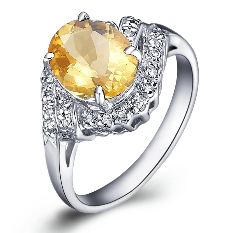 Natural Citrine Ring 925 Sterling Silver Yellow Crystal Woman Fashion Fine Elegant Jewelry Queen Lux Birthstone Gift SR0017C все цены