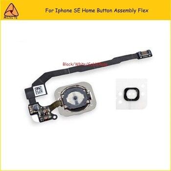 100PCS/LOT OEM Home Button Flex For Iphone SE 5SE Home Button Assembly Flex Cable phone home button flex Gold White Black Rose