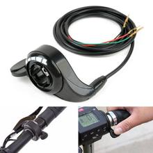 Акселератор контроль скорости Электрический велосипед пластиковый металлический Thumb дроссельной заслонки скутер аксессуары черный Замена практичный 3 провода сцепление