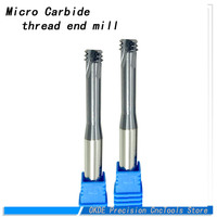 micro Carbide thread end mill M1 M1.2 M1.4 M1.6 M2 M2.5 M3 M4 M5 M6 M8 M10 Thread mills ,thread milling cutter short flutes Rate