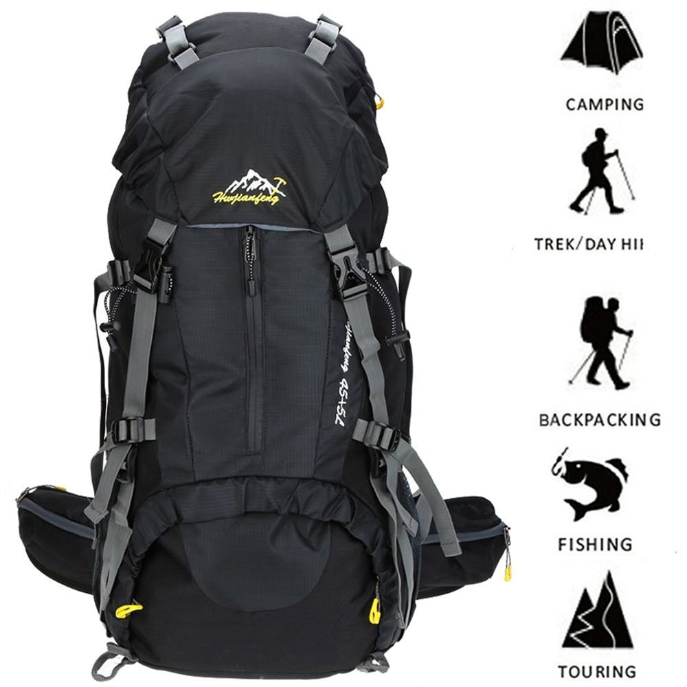 50L Multipurpose Mountaineering tactical Backpack with rain Cover 45l 5l Travel Camping bags for Climbing Skiing