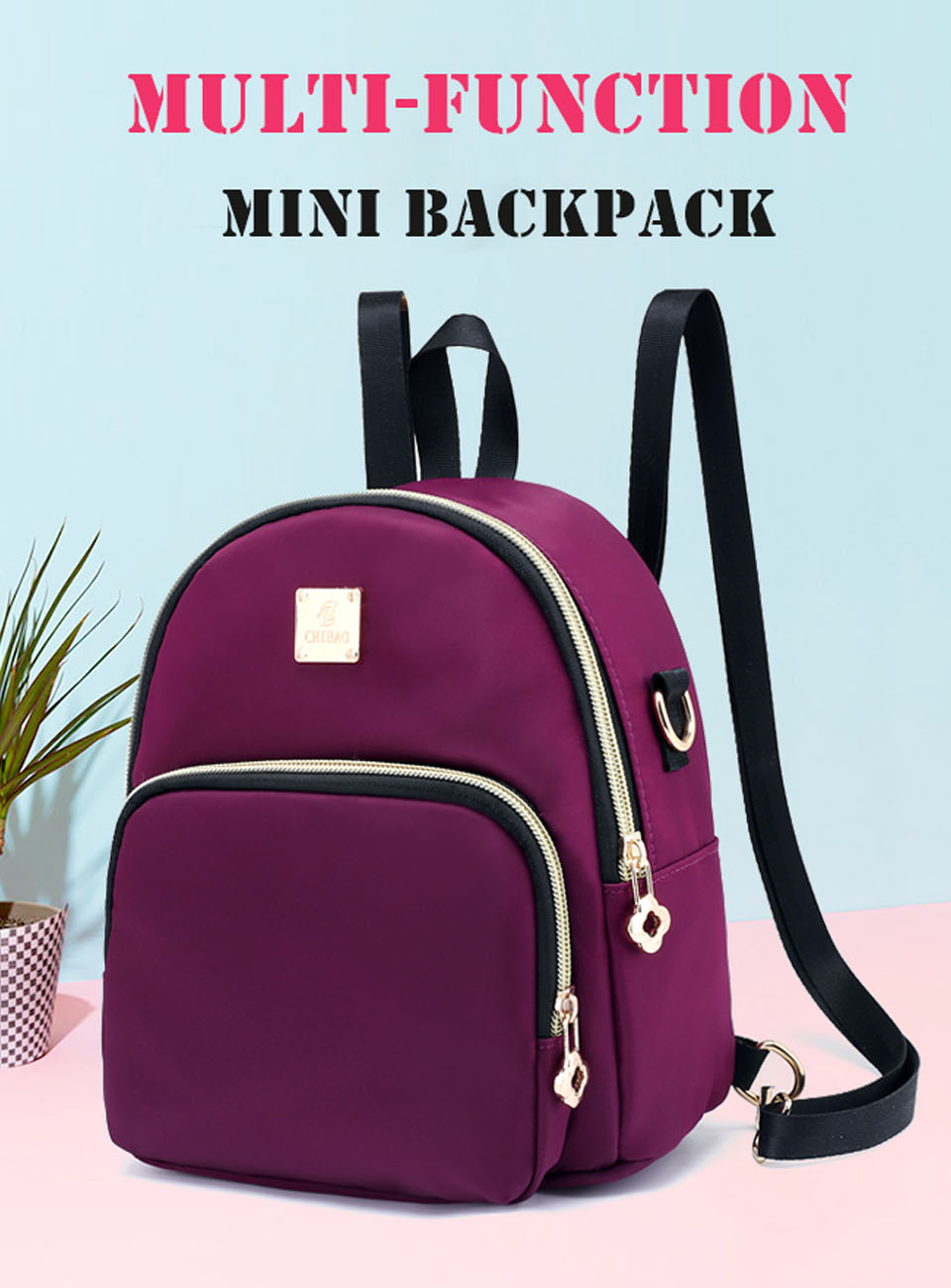 962de7ec71c7 Women Mini Backpack Purse Nylon Waterproof Small Backpack for Girls  Multifunctional Cross Body Bag 2018 Fashion Bag #199150
